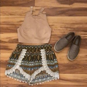 Forever 21 Tan Crop Top